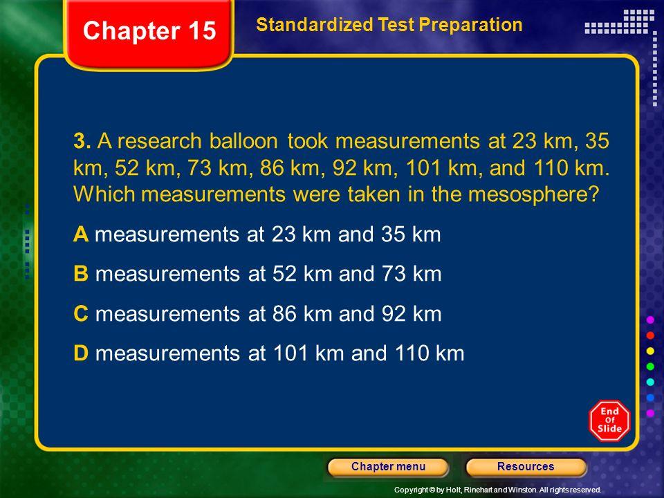 Chapter 15Standardized Test Preparation.