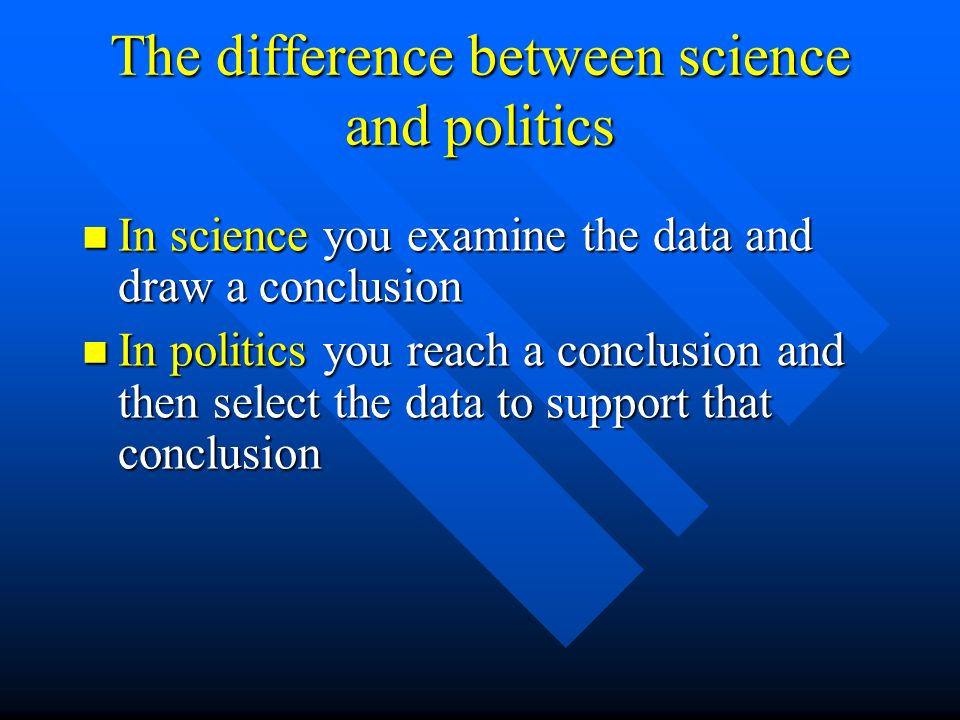 The difference between science and politics