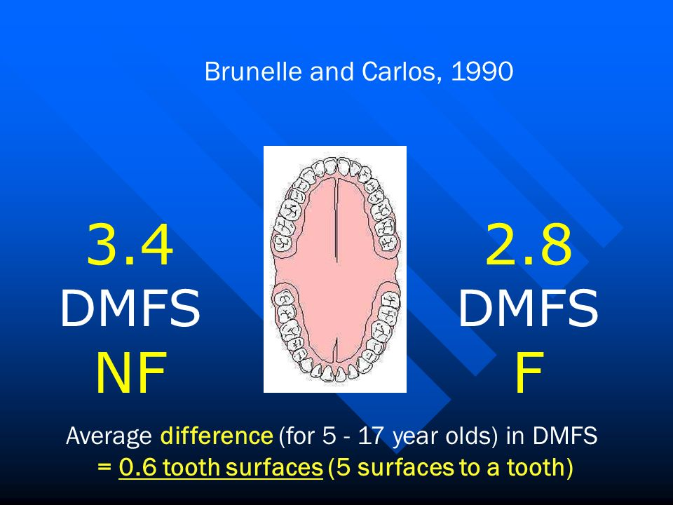 3.4 DMFS NF 2.8 F DMFS Brunelle and Carlos, 1990