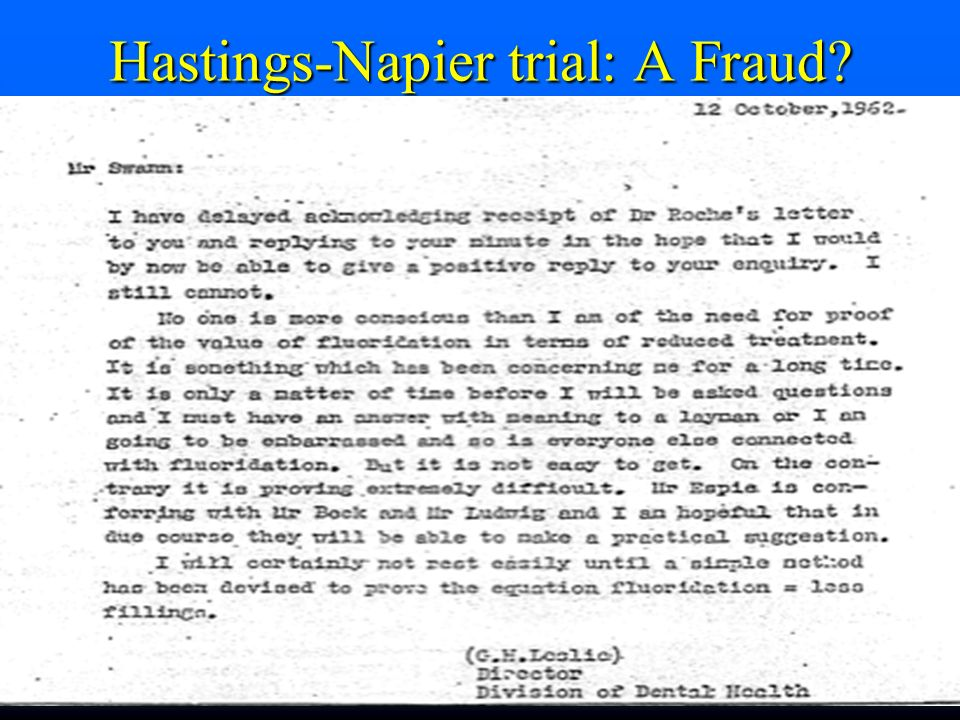 Hastings-Napier trial: A Fraud