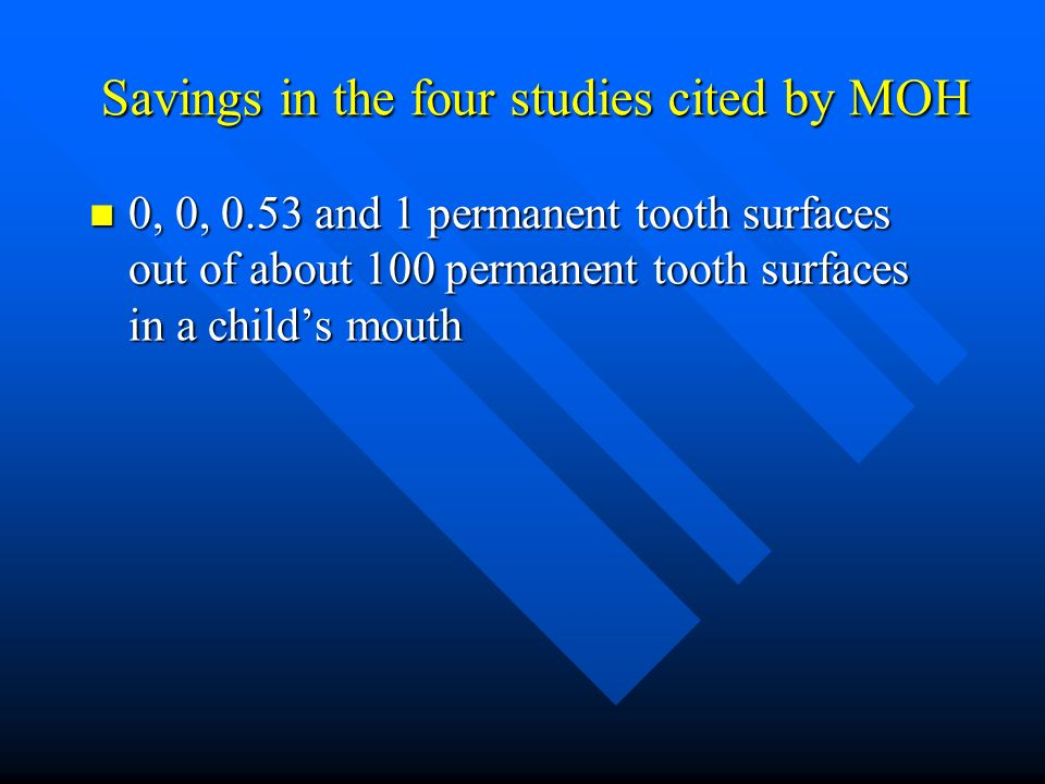 Savings in the four studies cited by MOH