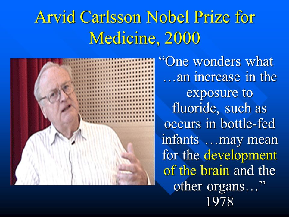 Arvid Carlsson Nobel Prize for Medicine, 2000