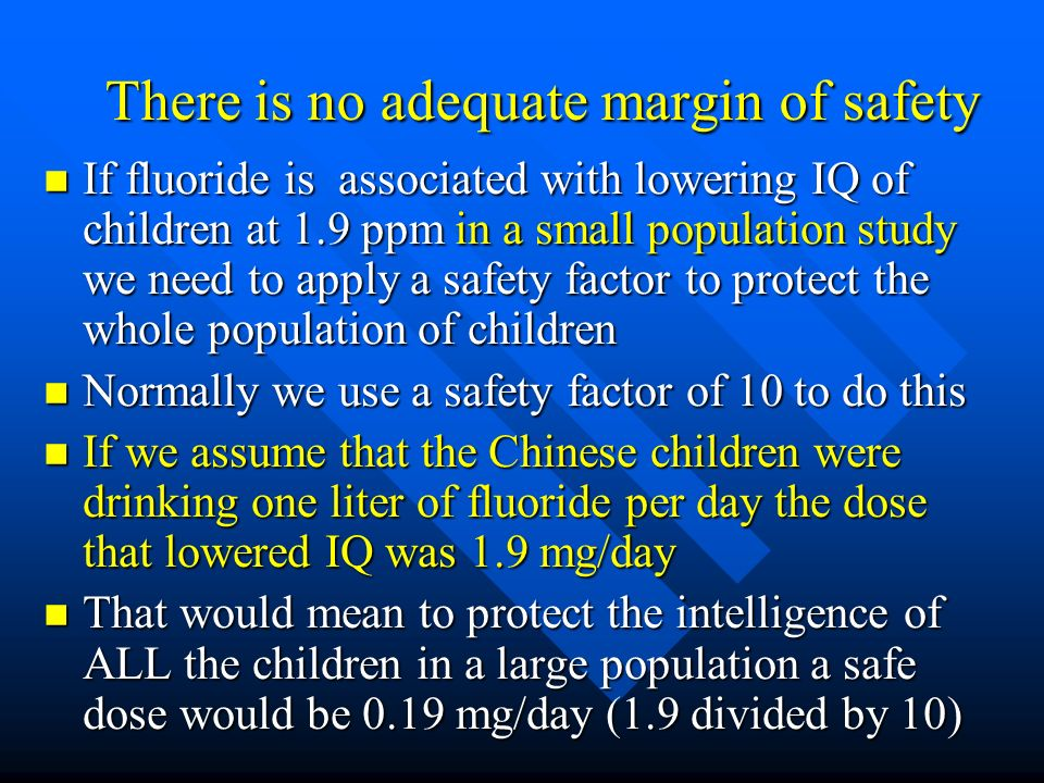 There is no adequate margin of safety