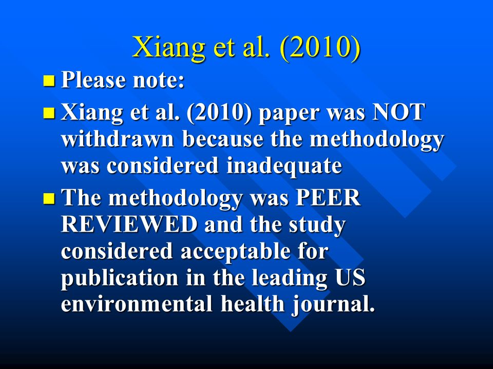 Xiang et al. (2010) Please note:
