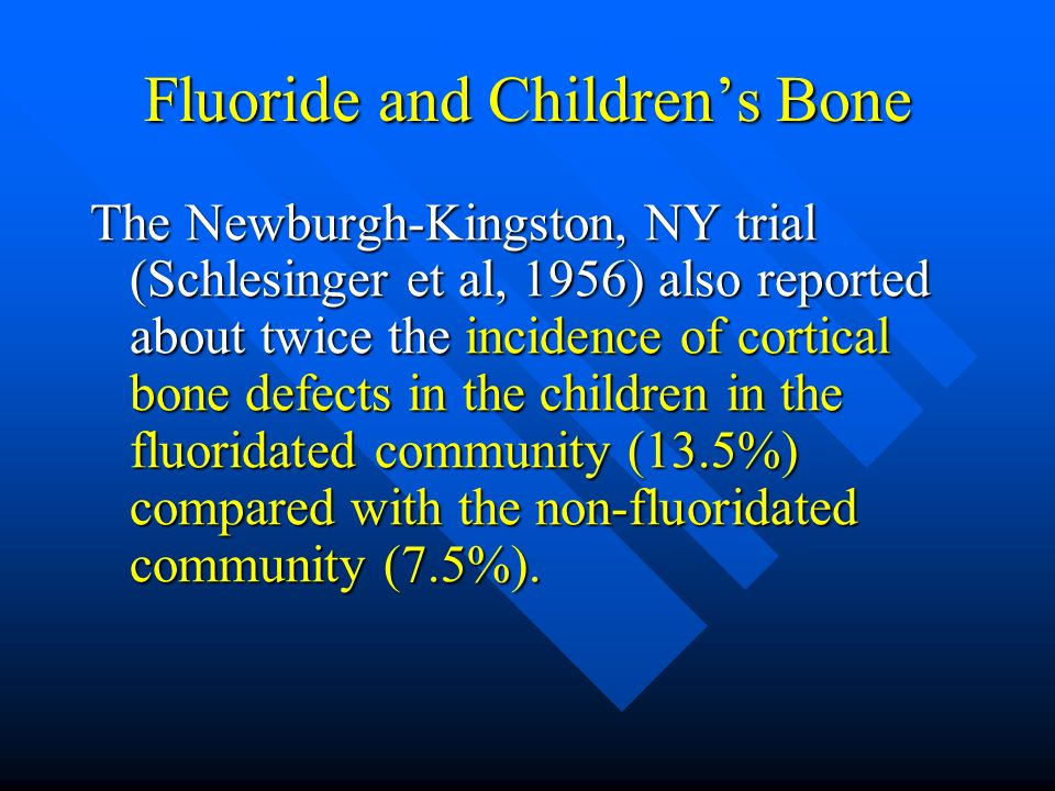 Fluoride and Children's Bone