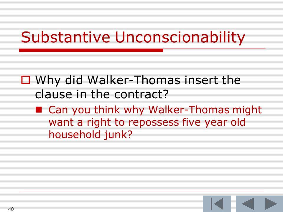 Substantive Unconscionability