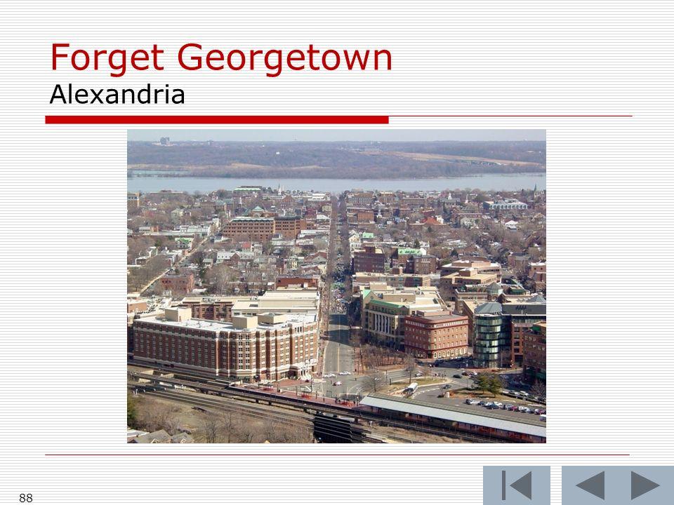 Forget Georgetown Alexandria