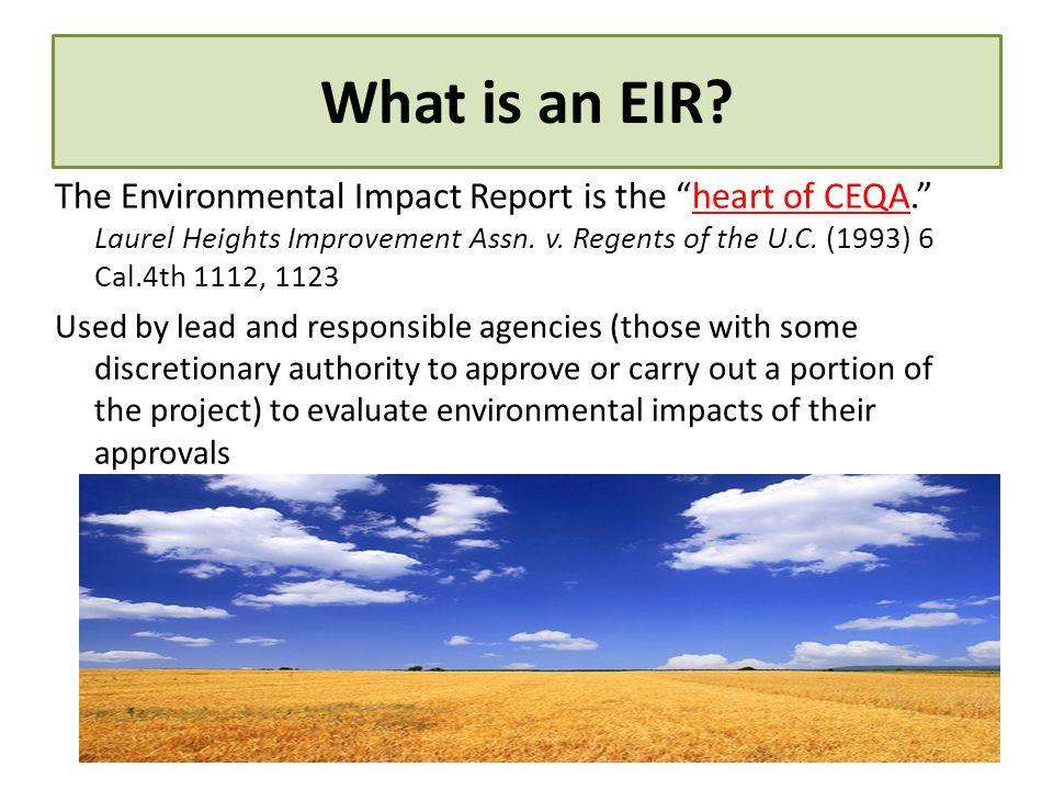 What is an EIR