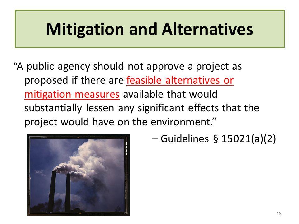Mitigation and Alternatives