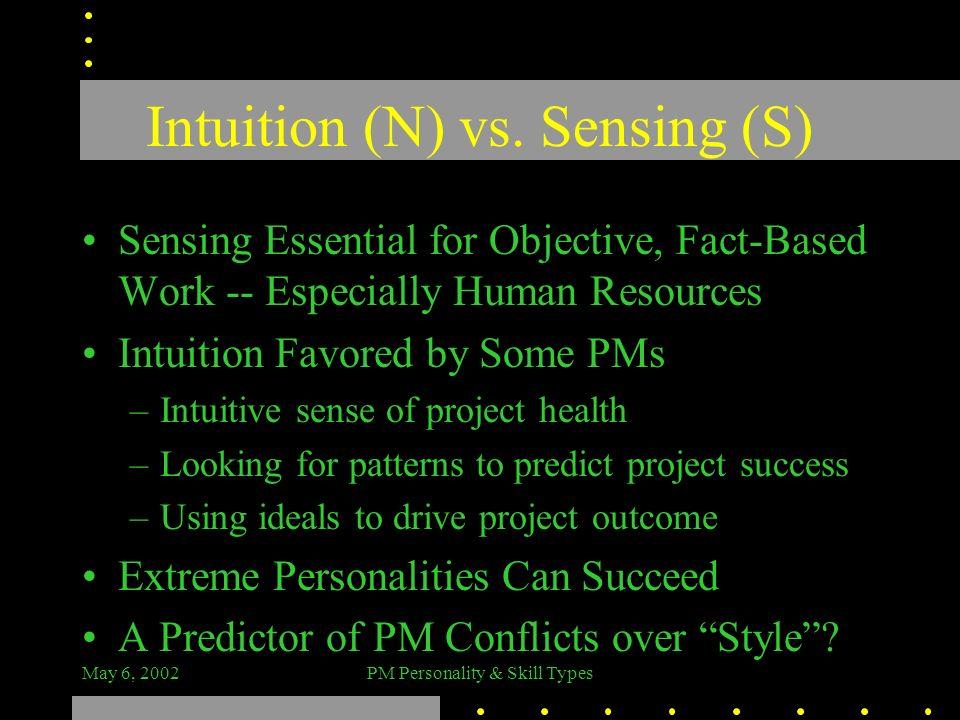 Intuition (N) vs. Sensing (S)