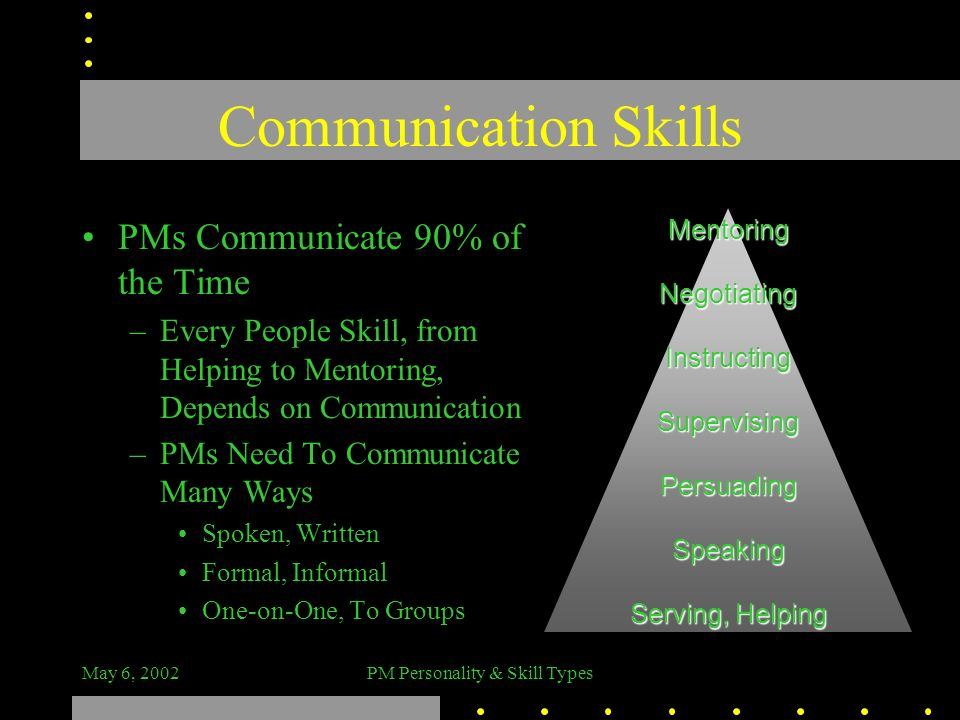 PM Personality & Skill Types