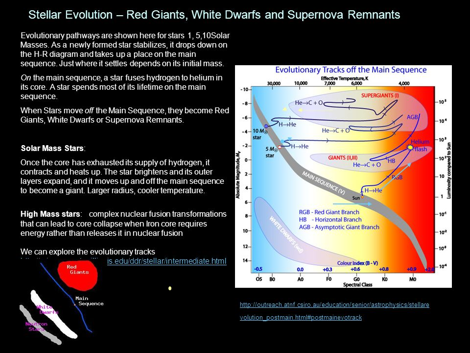 Stellar Evolution – Red Giants, White Dwarfs and Supernova Remnants