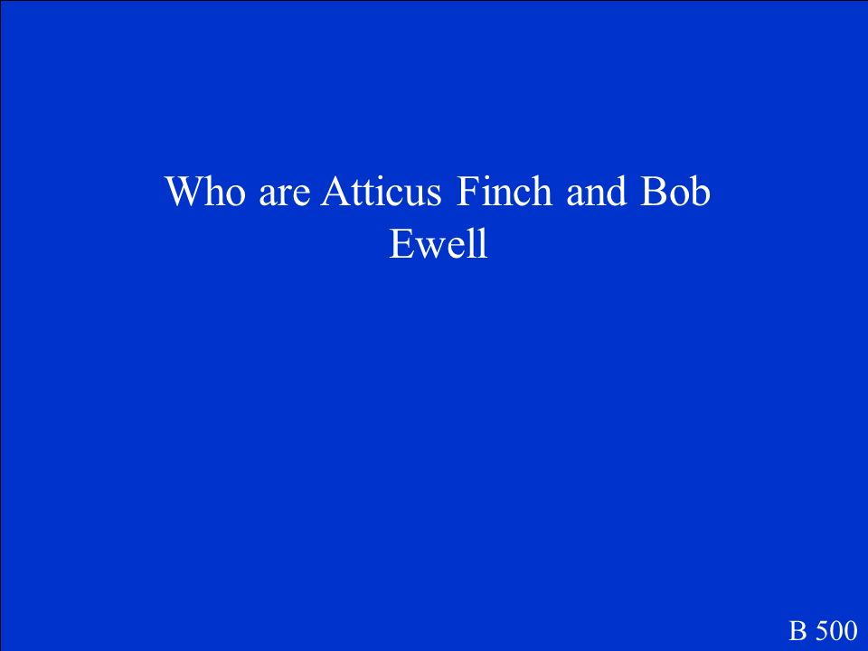 Who are Atticus Finch and Bob Ewell