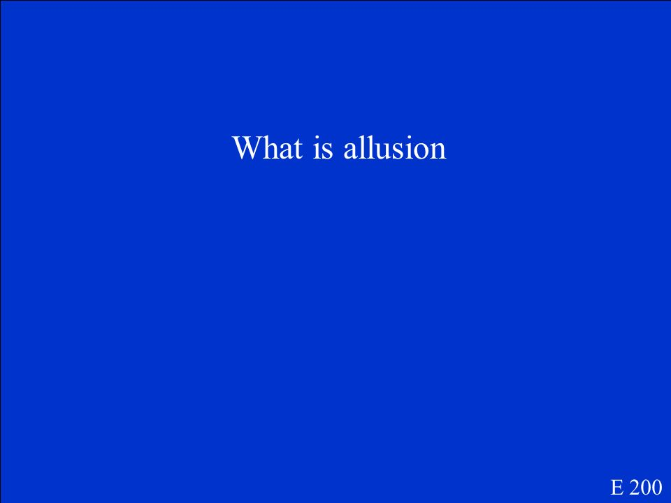 What is allusion E 200