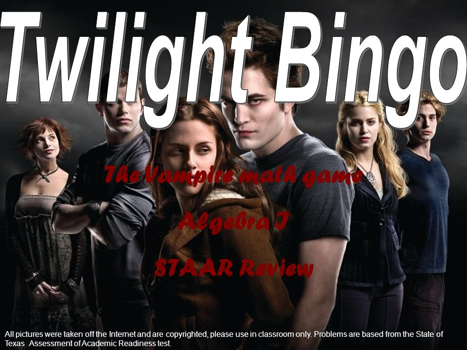 The Vampire math game Algebra I STAAR Review