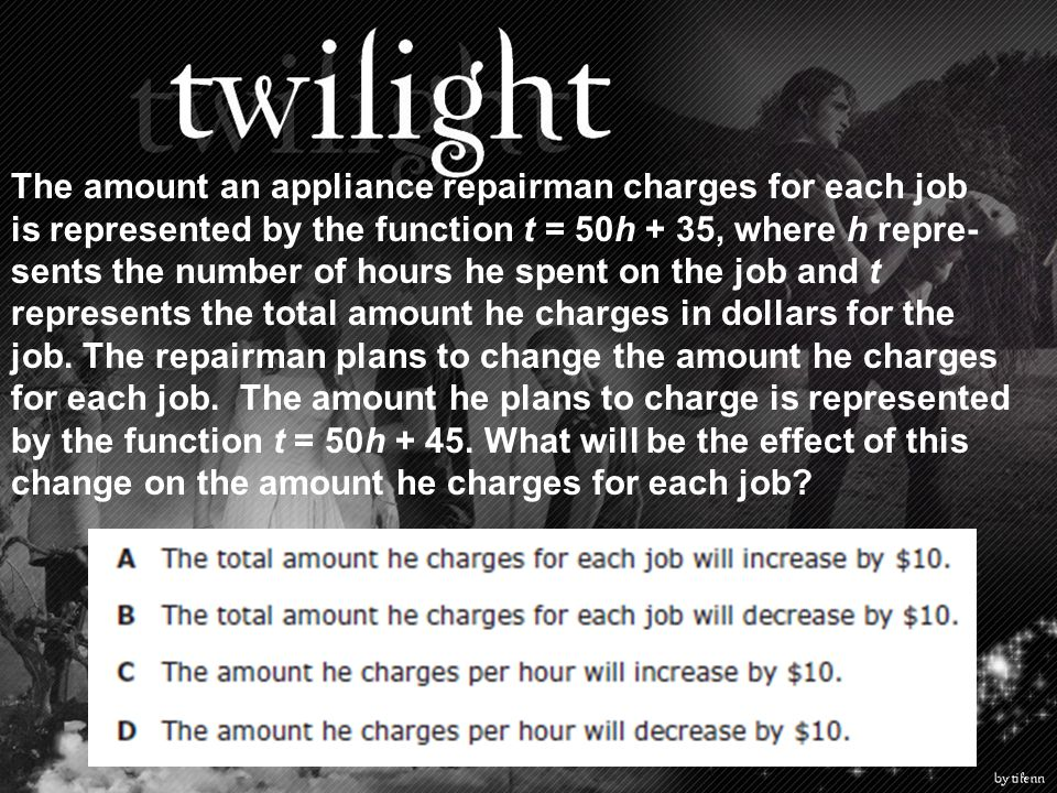 The amount an appliance repairman charges for each job