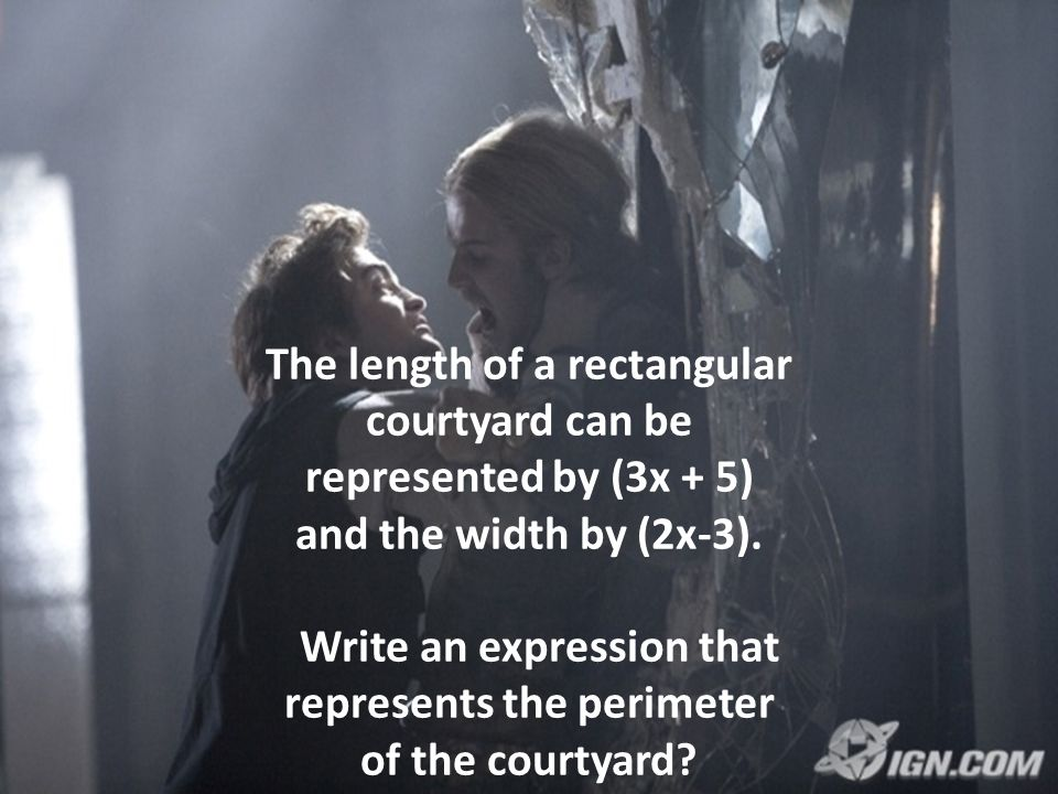 The length of a rectangular courtyard can be represented by (3x + 5)