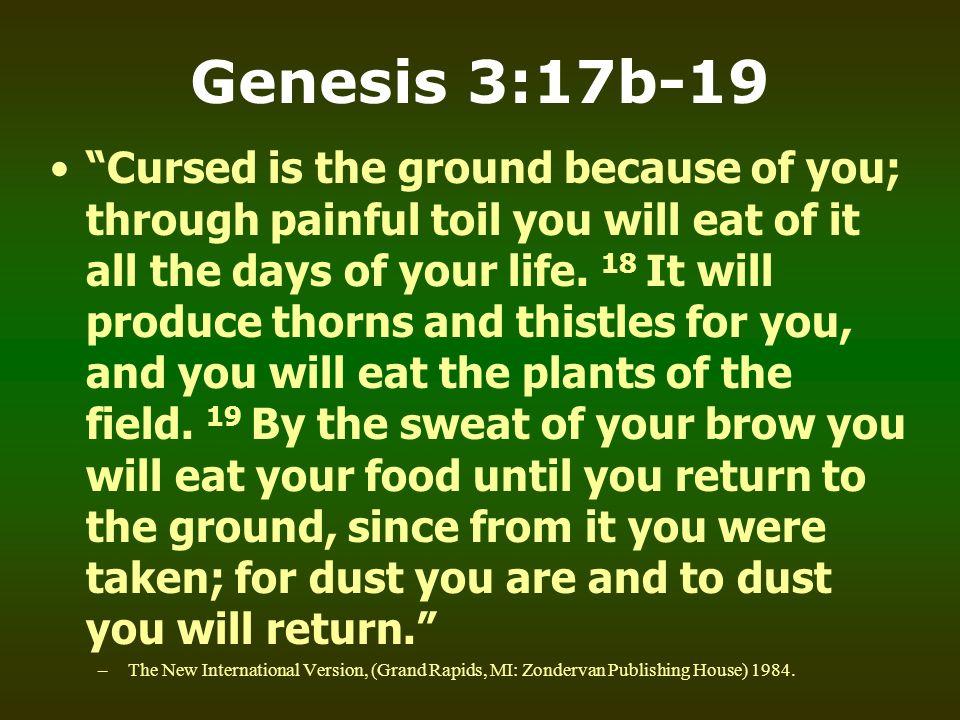 Genesis 3:17b-19