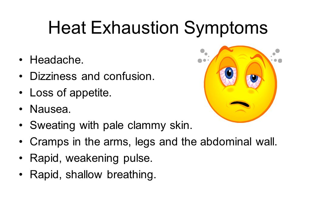 Heat Exhaustion Symptoms