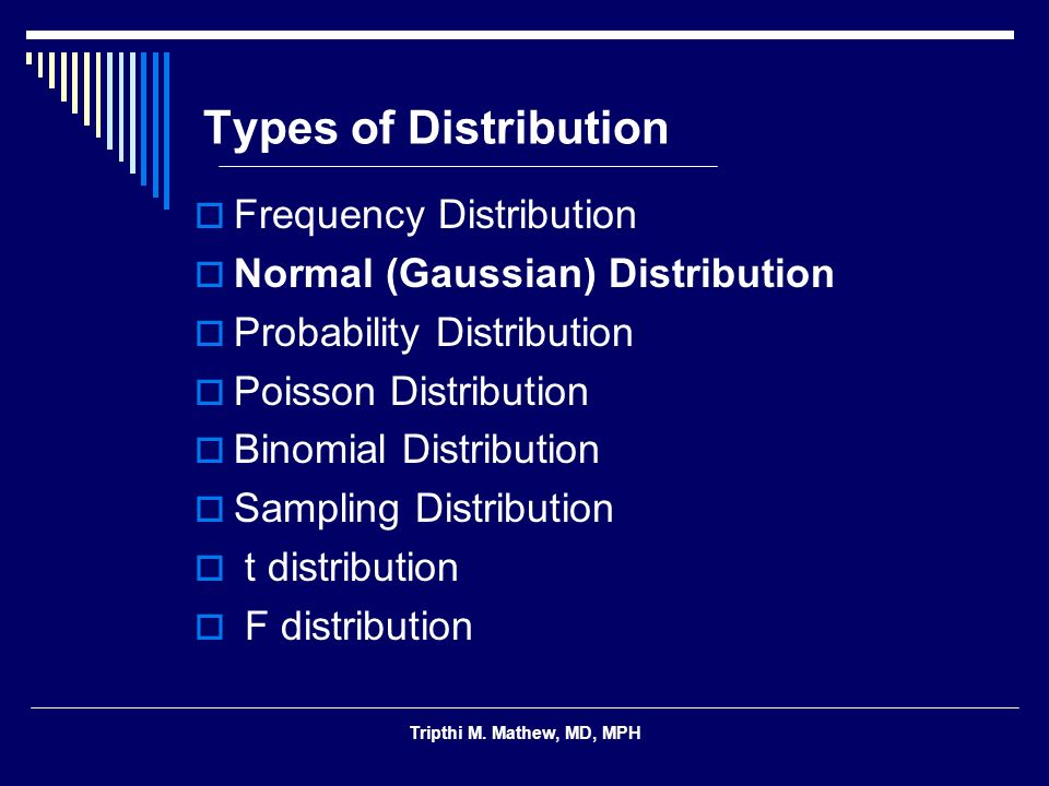 Types of Distribution Frequency Distribution