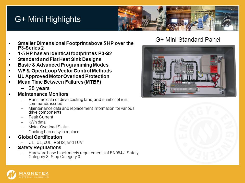 G+ Mini Highlights G+ Mini Standard Panel 28 years
