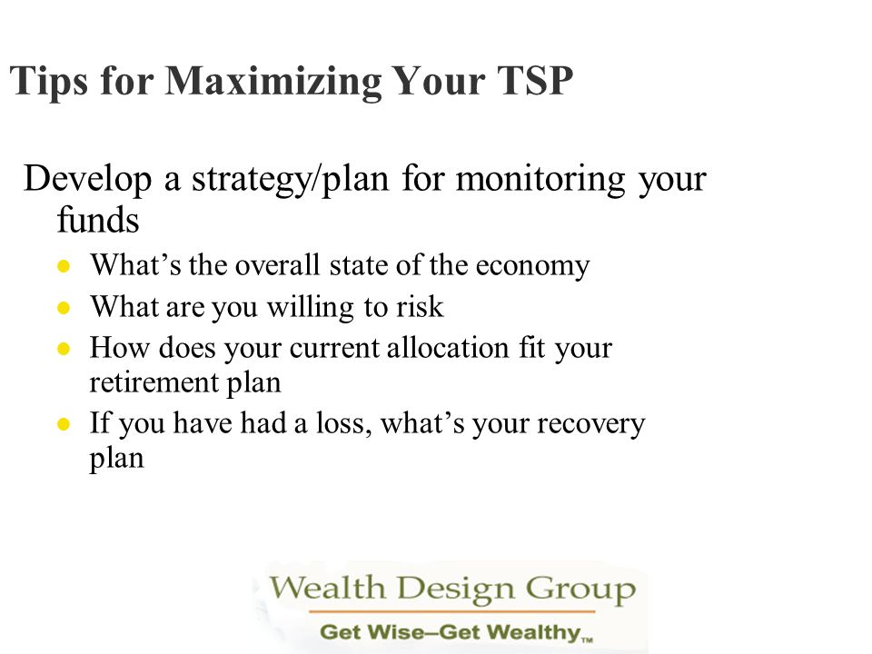 Tips for Maximizing Your TSP