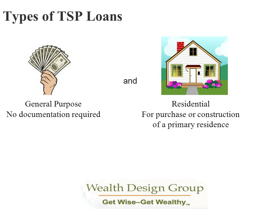 Types of TSP Loans and General Purpose No documentation required