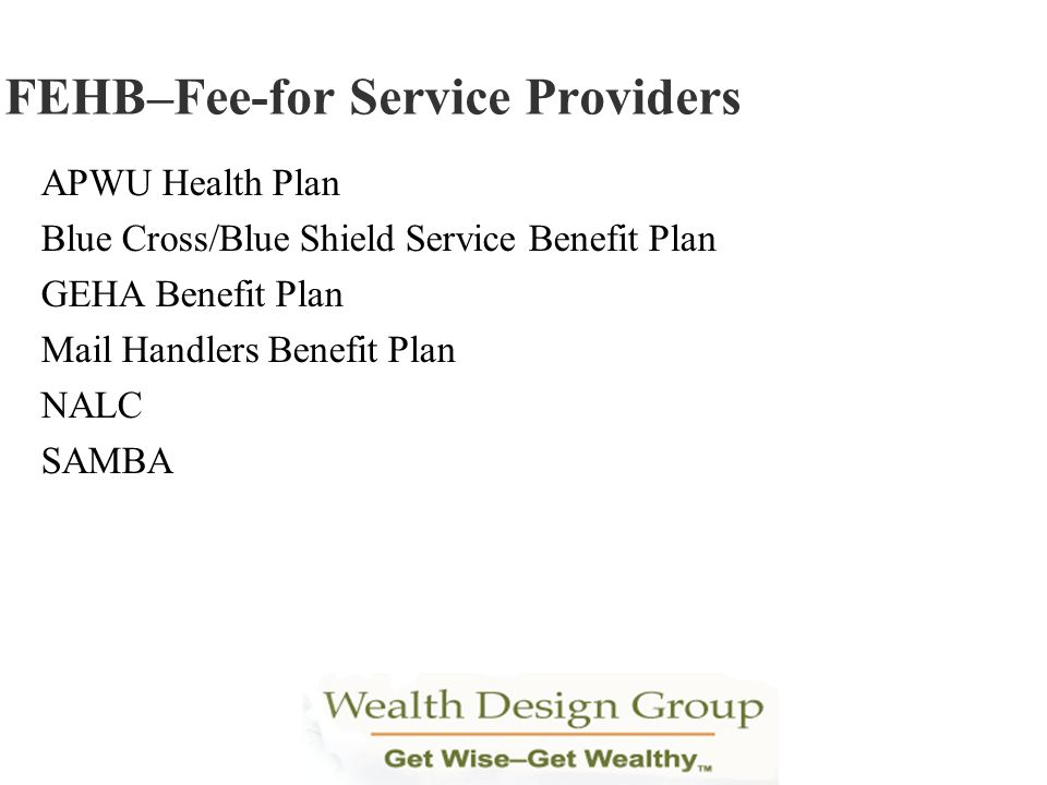 FEHB–Fee-for Service Providers
