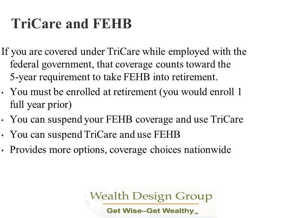 TriCare and FEHB