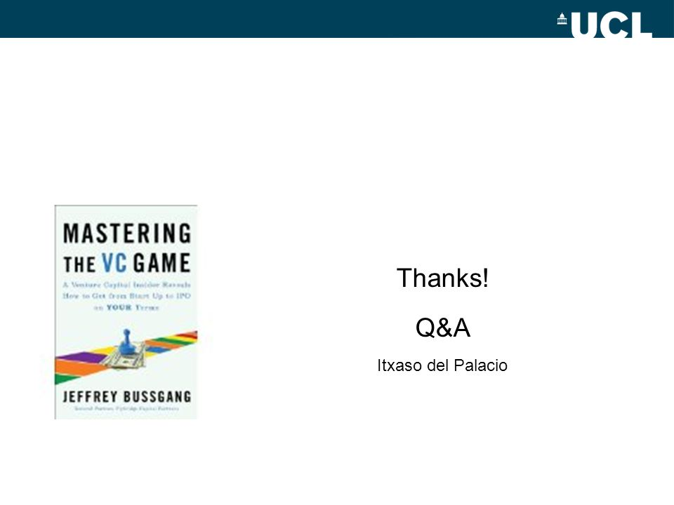 Thanks! Q&A Itxaso del Palacio