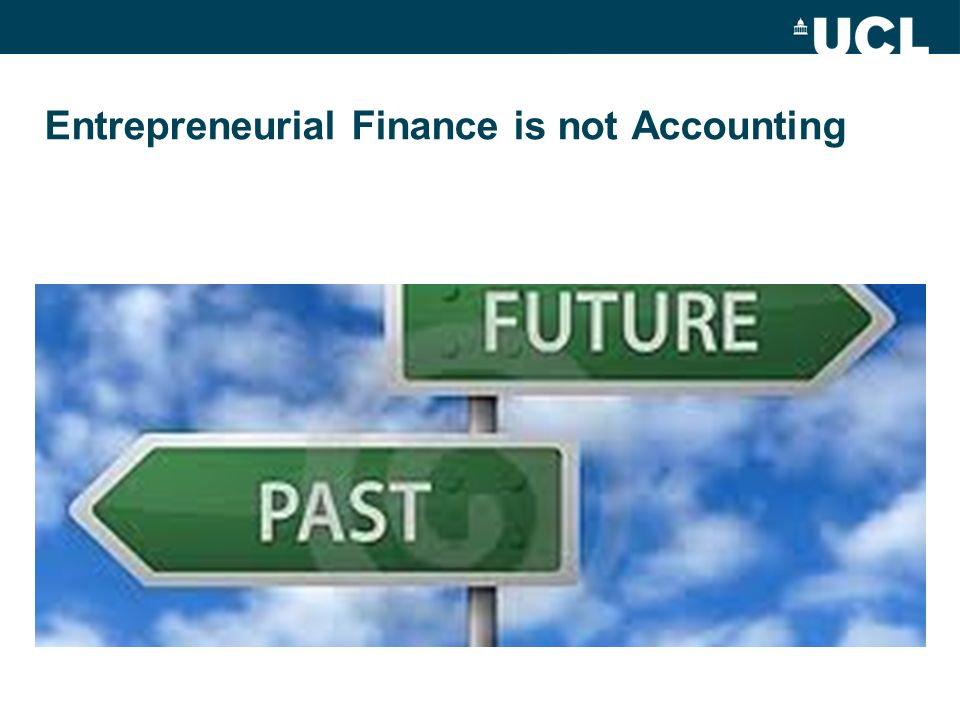 Entrepreneurial Finance is not Accounting