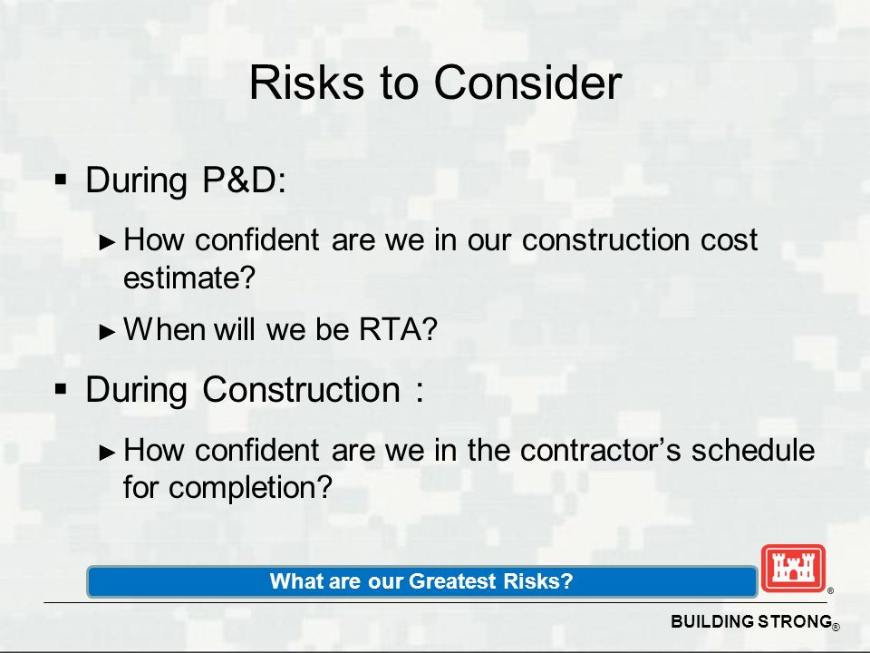 What are our Greatest Risks