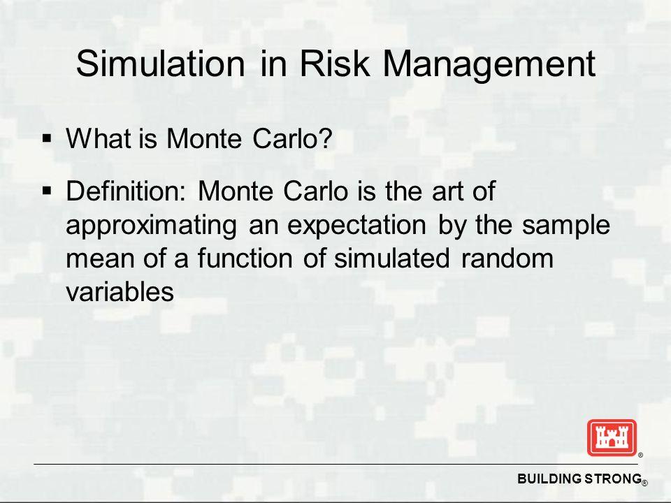 Simulation in Risk Management