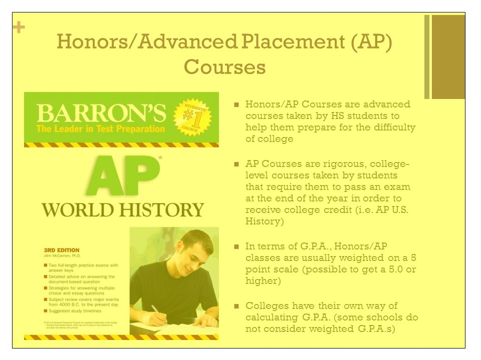 Honors/Advanced Placement (AP) Courses