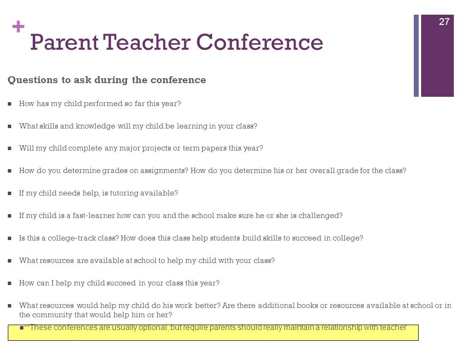 Parent Teacher Conference