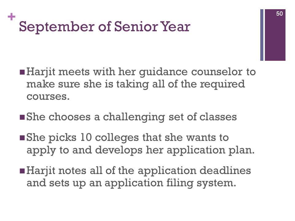September of Senior Year