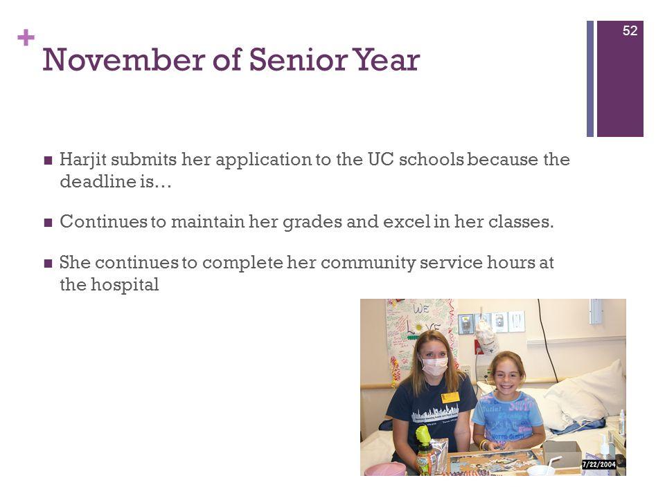 November of Senior Year