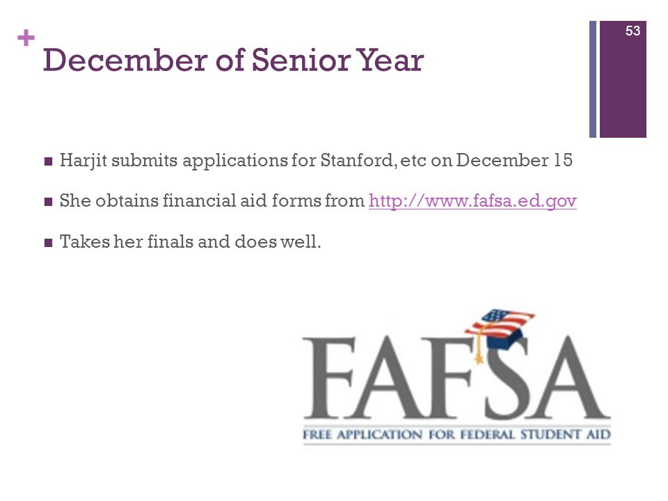 December of Senior Year