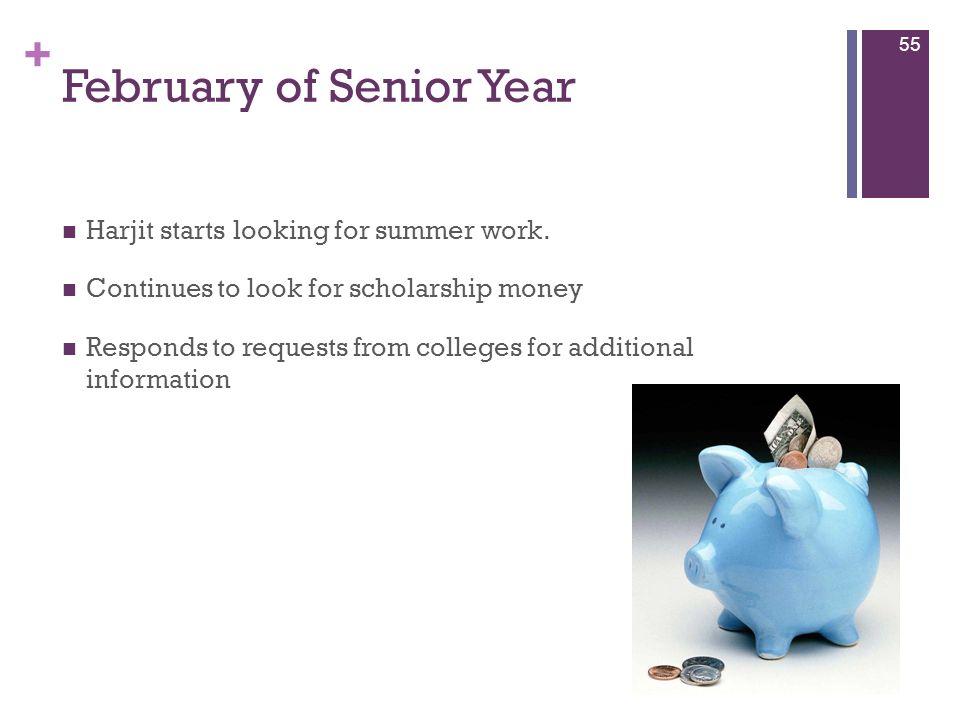 February of Senior Year