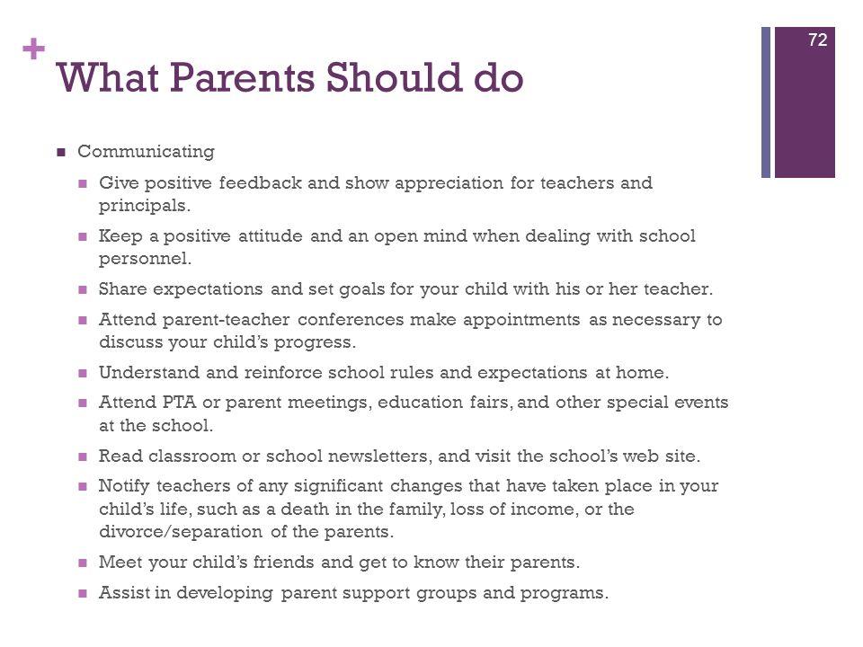 What Parents Should do Communicating