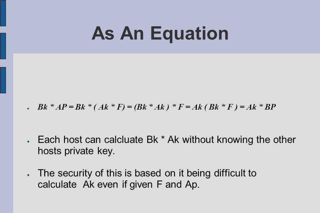 As An Equation Bk * AP = Bk * ( Ak * F) = (Bk * Ak ) * F = Ak ( Bk * F ) = Ak * BP.