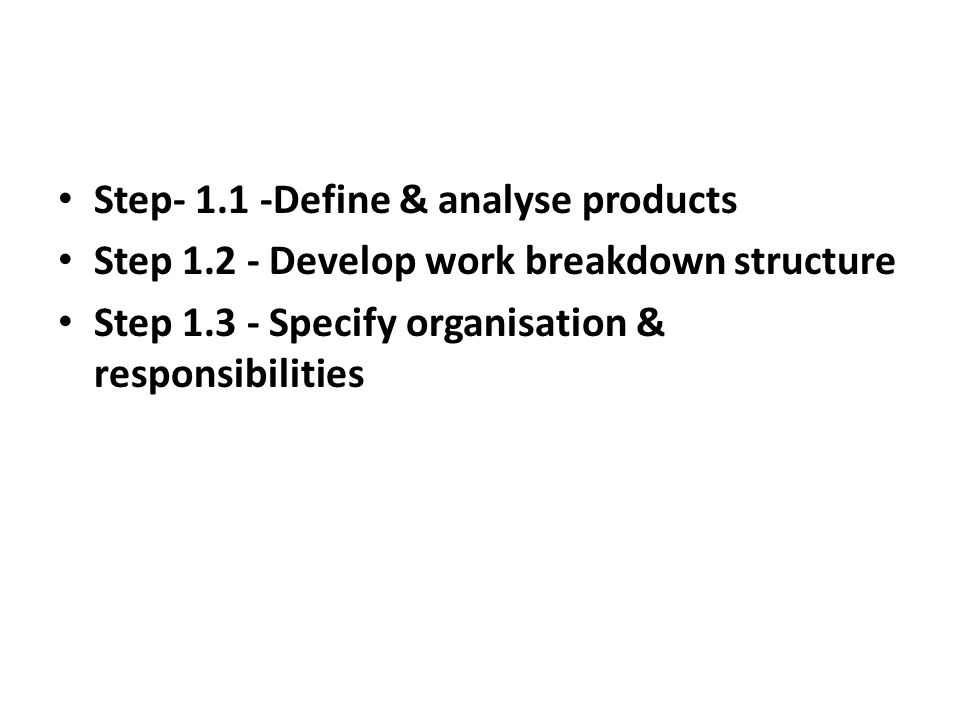 Step- 1.1 -Define & analyse products
