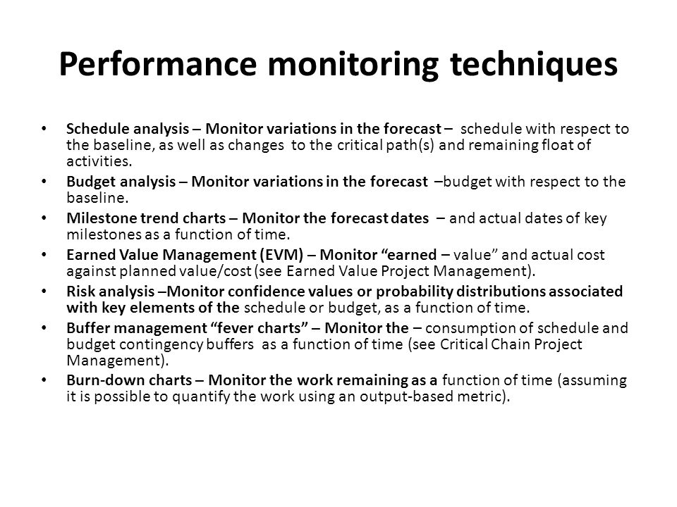 Performance monitoring techniques