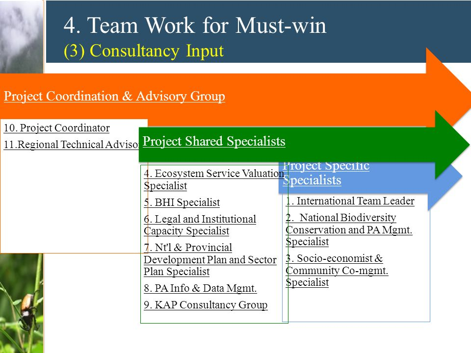 4. Team Work for Must-win (3) Consultancy Input