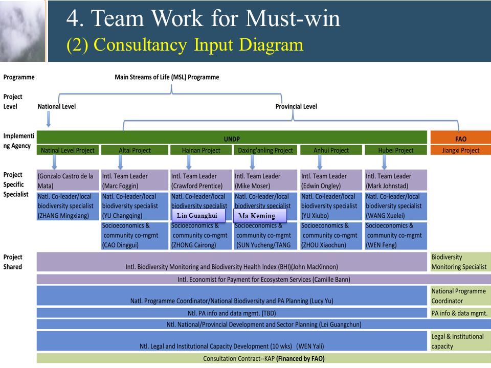 4. Team Work for Must-win (2) Consultancy Input Diagram Lin Guanghui