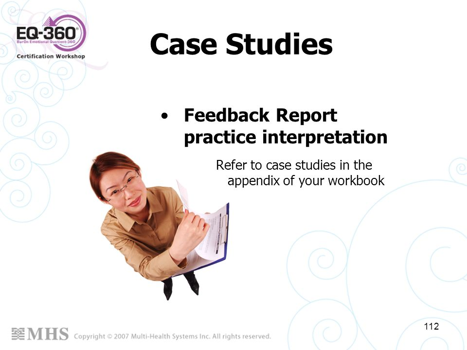 Case Studies Feedback Report practice interpretation