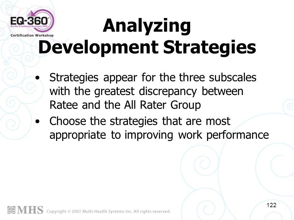 Analyzing Development Strategies