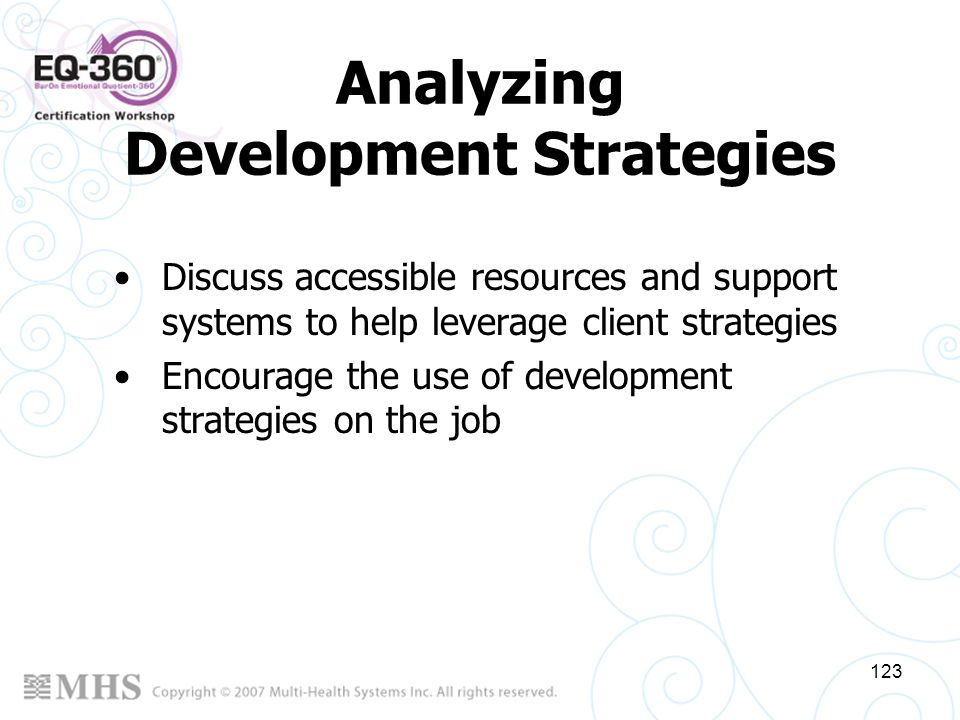 Analyzing Development Strategies