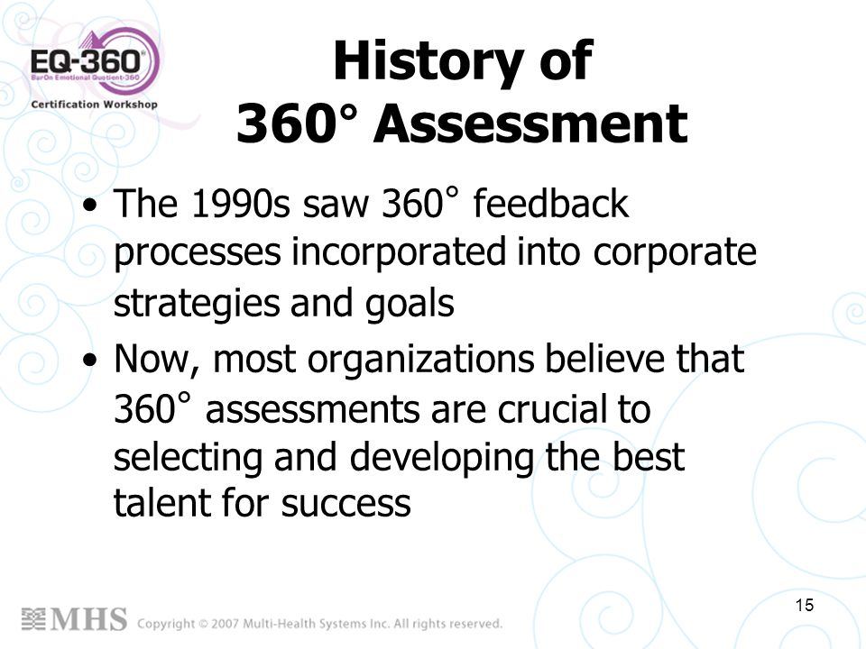 History of 360° Assessment