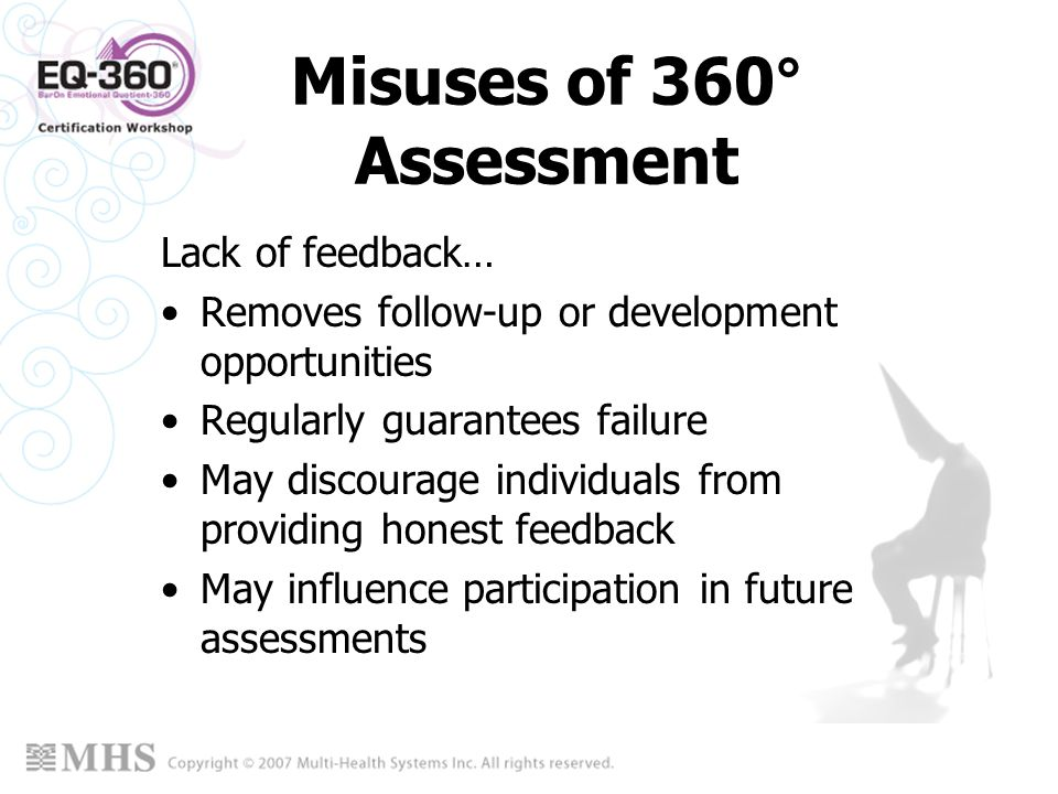 Misuses of 360° Assessment
